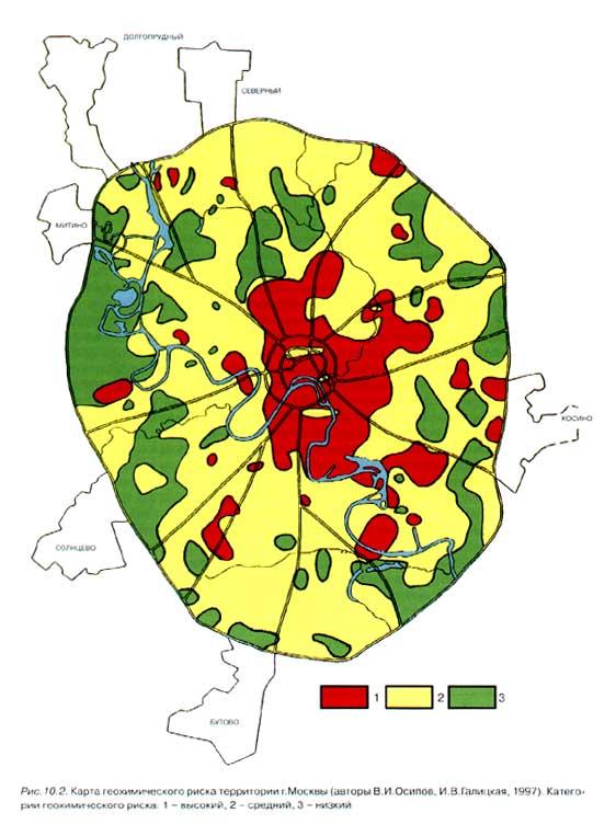 Карта геохимического риска