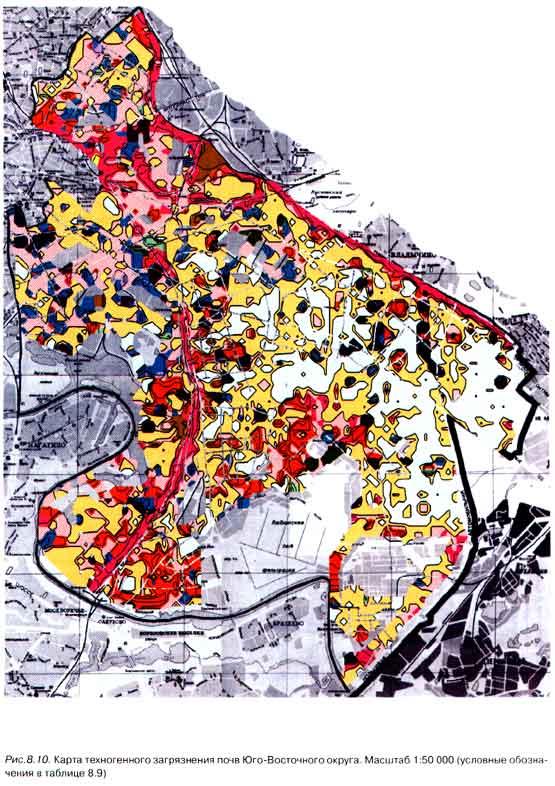 Карта техногенного загрязнения