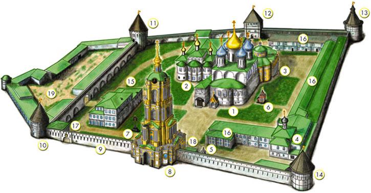 План-схема Новоспасского монастыря