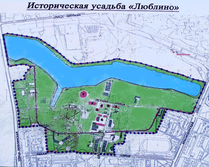План-схема усадьбы Люблино
