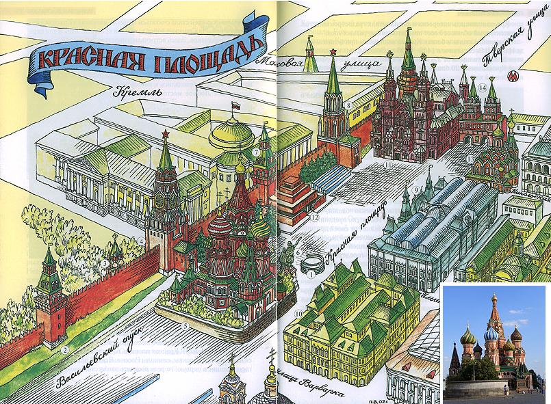 План-схема Красной Площади